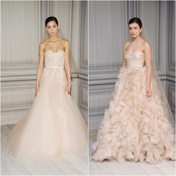 Blush Colored Wedding Gowns