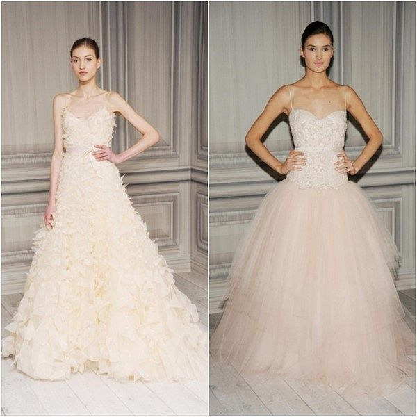 Monique Lhuiller Blush Colored Wedding Gowns