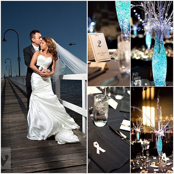Melbourne Wedding Romantic Waterfont Docklands Reception