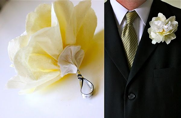 DIY Paper Boutonnieres