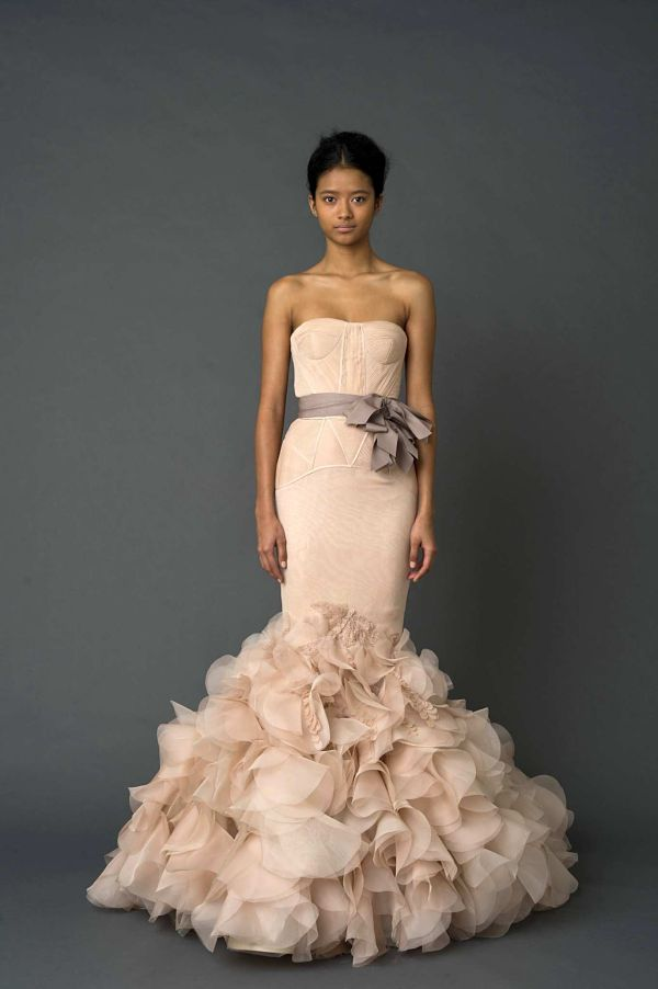 Vera Wang Wedding Dress Blush