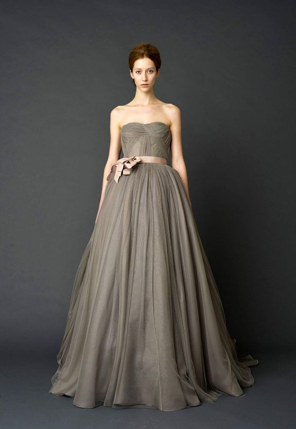 Vera Wang Wedding Dress Grey Charcoal