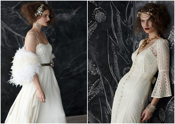 Vintage Glam Wedding Gowns by BHLDN