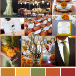 Fall Wedding Colors ~ Pumpkin, Mustard & Terracotta