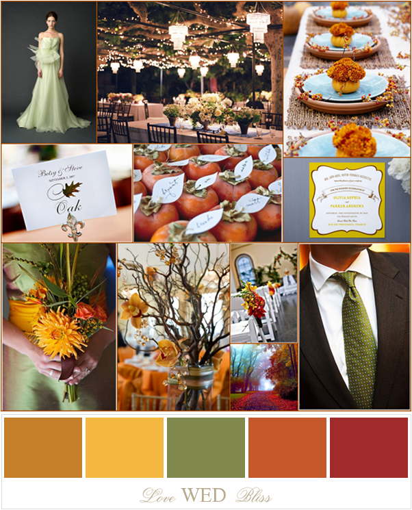 Fall Wedding Colors Pumpkin Mustard Terracotta
