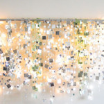 DIY Sparkle Mirror Garland