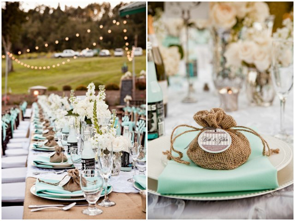 burlap wedding table Beautiful Burlap Wedding Ideas