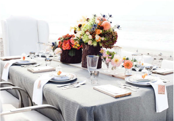Glamorous Beach Wedding Decor