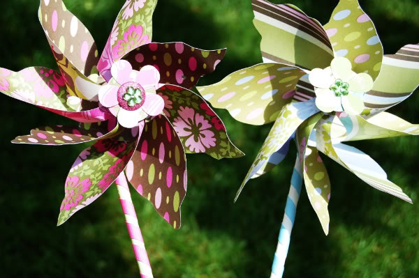 How To Make Paper Flower Pinwheels
