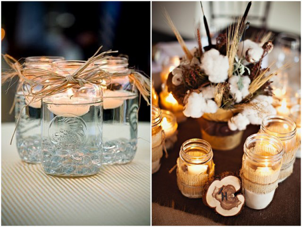 Mason Jar Lanterns and Candle Holders For Magical Weddings