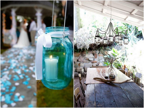 mason jar wedding Mason Jar Lanterns and Candle Holders For Magical Weddings