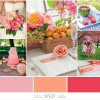 Pink, Peach & Melon Wedding Color Inspiration