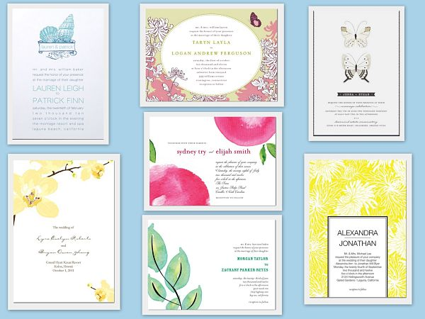 summer wedding invitations 10 Chic Ideas For A Summer Wedding Theme