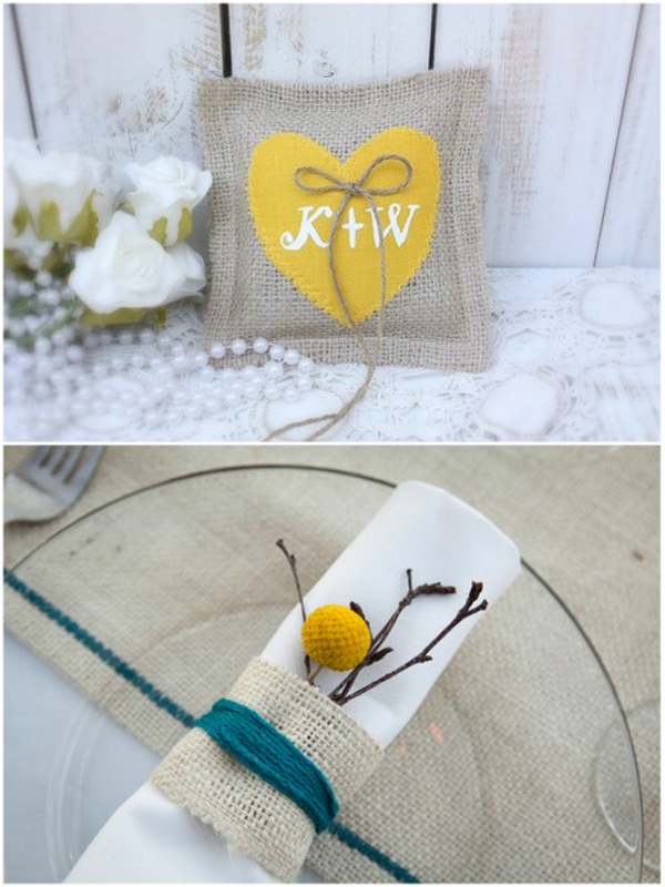 Wedding Burlap Details