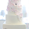 BHLDN Inspired Floral Artwork Wedding Cake