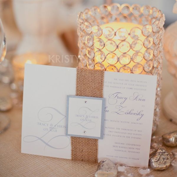 wedding hessian Beautiful Burlap Wedding Ideas
