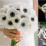 Black and White Anemone Wedding Inspiration