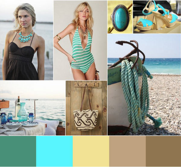 Blue Teal Sand Taupe Brown Inspiration
