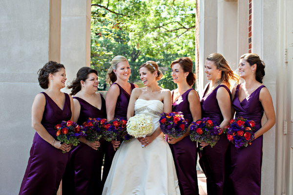 Dallas Wedding Purple Bridesmaids