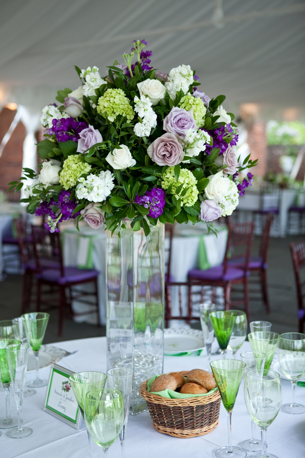 marquee summer wedding centerpieces Elegant Summer Virginia Wedding by Jan Michele Photography