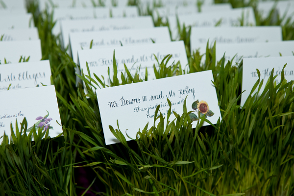 Outdoor Summer Wedding Seating Cards
