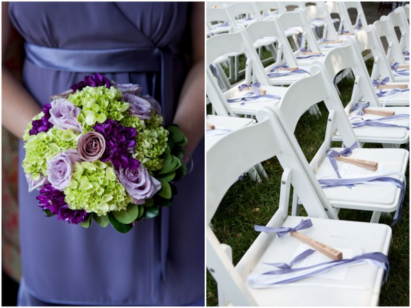 purple green wedding colors Elegant Summer Virginia Wedding by Jan Michele Photography