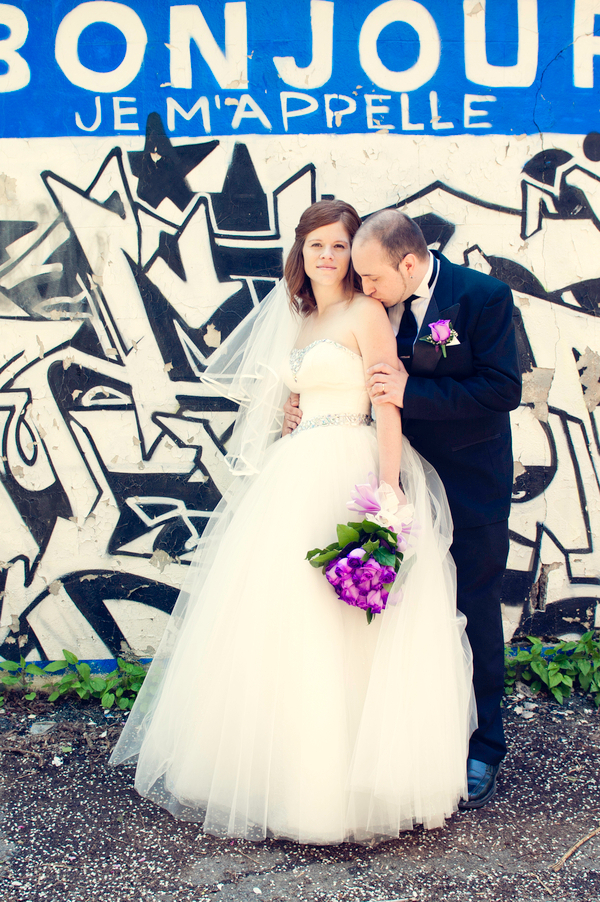 Purple Wedding Graffiti Photography