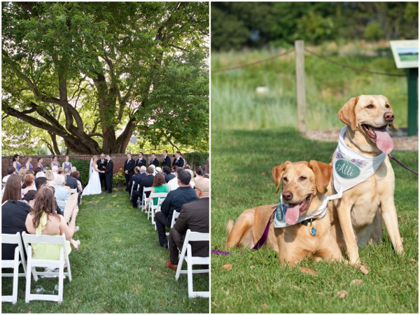 real weddings outdoors garden Elegant Summer Virginia Wedding by Jan Michele Photography