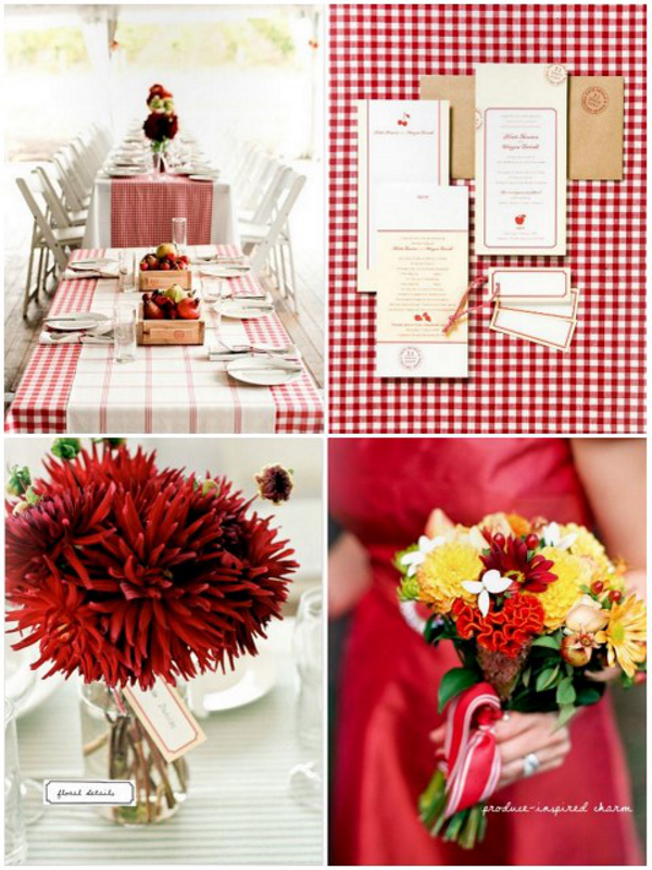 Red Outdoor Wedding Inspiration