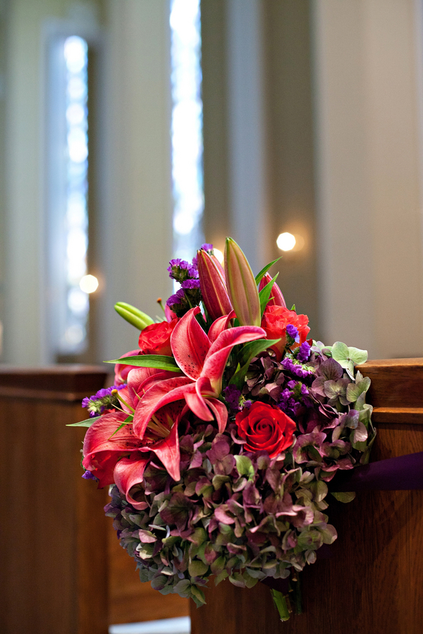 Traditional Purple Wedding Aisle Decor Love Wed Bliss