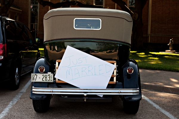Traditional Wedding Vintage Car