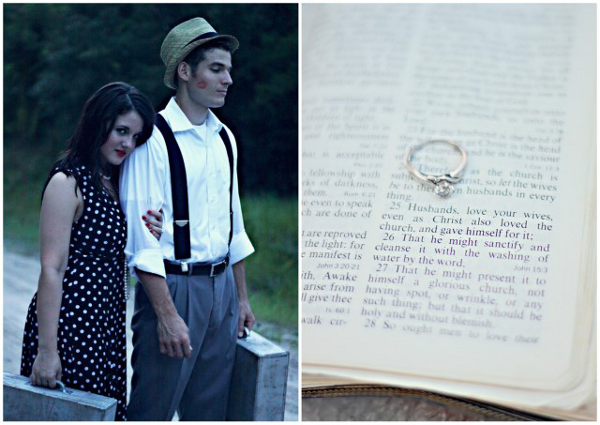 Vintage Inspired Engagement Shoot