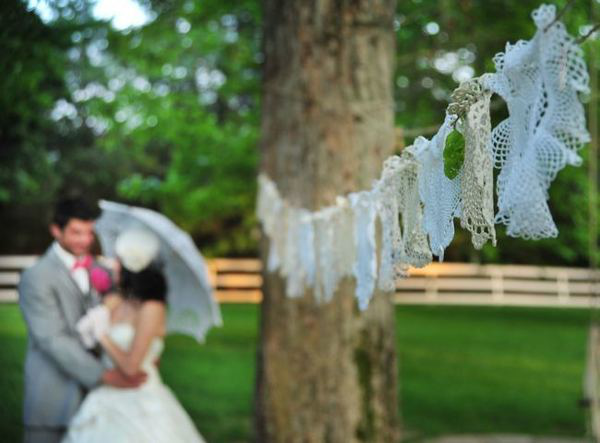 Wedding Lace Doily Decorations
