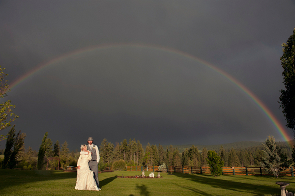 Arosa Guest Ranch Wedding Rainbow