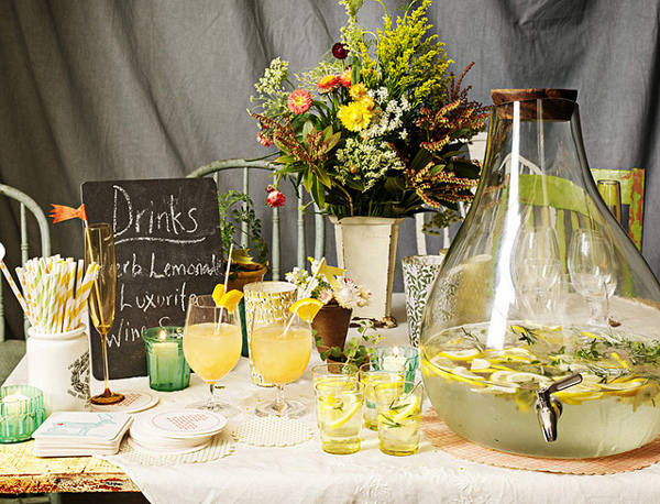 BHLDN Tablescape Slate Garden