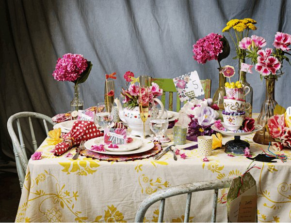 BHLDN Tablescape Mad Hatter