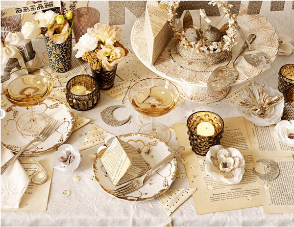 Wedding reception tablescapes by bhldn for Decoration kabyle