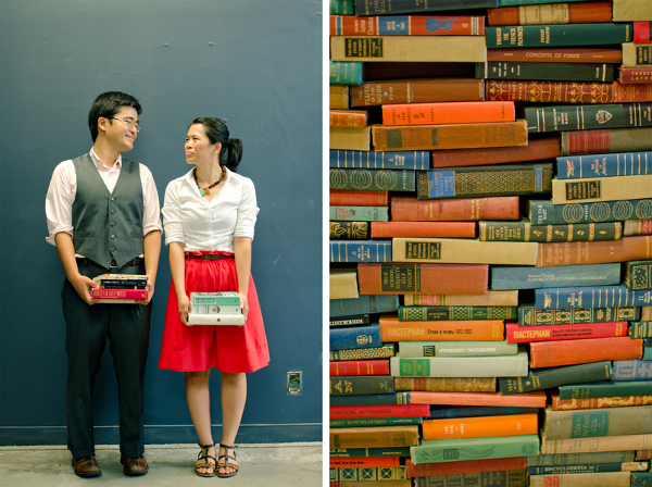 Book Themed Engagement Session