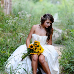 Tennessee Sunflower Bridal Session