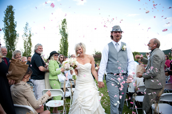 British Columbia Wedding Petal Throwing