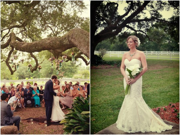 eco friendly rustic wedding Rustic Louisiana Backyard Wedding by Amelia J. Moore Photography