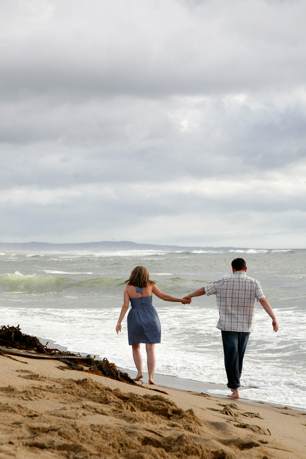 Moss Landing Beach Engagement Photos