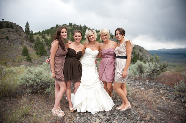 Mountain Wedding Bridesmaids