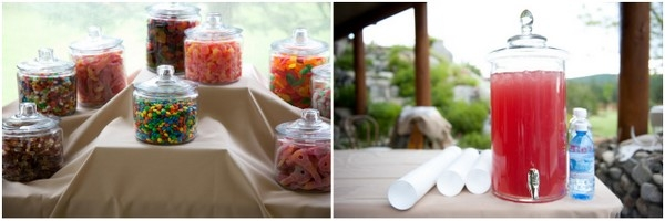 Mountain Wedding Lolly Table