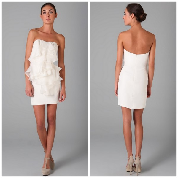Strapless Crepe Dress