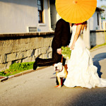 Orange Outdoor Whimsical Wedding