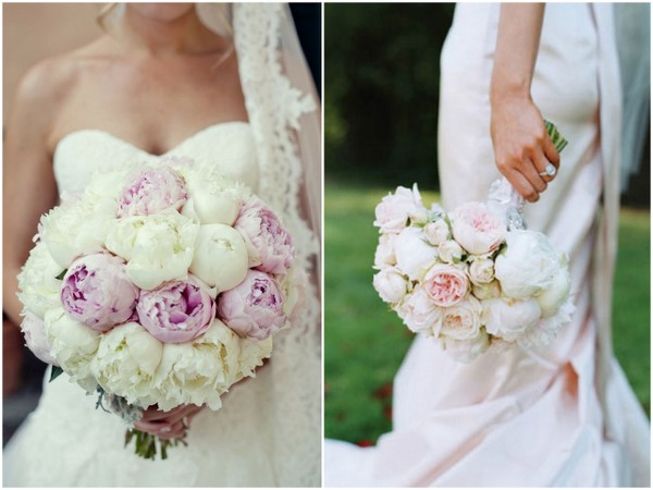 Peony Bouquet White Pink