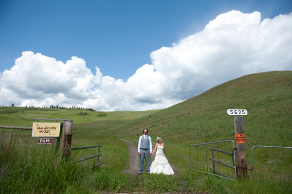 Ranch Wedding Bride Groom