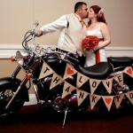 Red and White Ontario Motorcycle Wedding by Jen Shoots Weddings