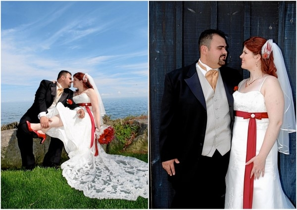 Red And White Wedding Couple